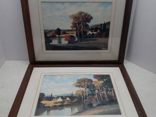 lot Of 2 Country Side Scenes From Hayslette