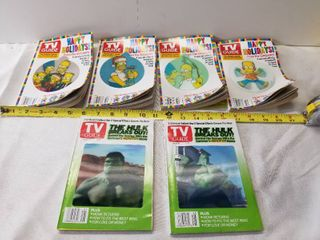 lot of Six TV Guides  Four Simpsons  Two Hulk