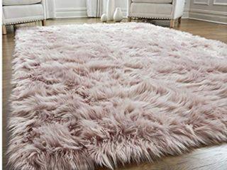 Dusty Pink Fur Rug