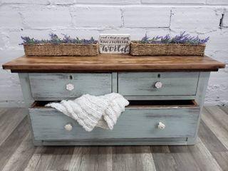 Small Distressed Wood Dresser