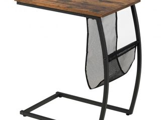 C Shaped End Side Table