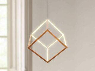 Gold Cubic light Fixture