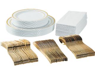 350 Piece Disposable Dinner Set