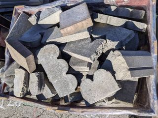 Assorted Paver and Precast Concrete Pieces