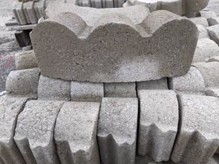 Gray Curved Scalloped Edge Pavers  250