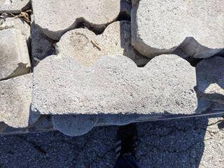 Gray Scalloped Edge Pavers  75