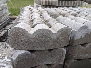 Gray Curved Scalloped Edge Pavers  200