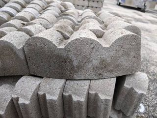 Gray Curved Scalloped Edge Pavers  240