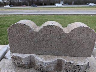 Gray Scalloped Edge Pavers  210