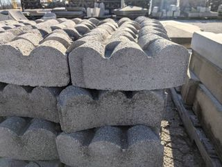 Gray Curved Scalloped Edge Pavers  110