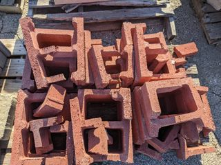 Red Cinder Block Pieces  15