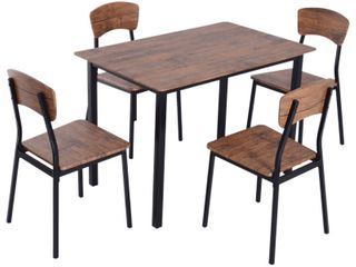 HOMCOM   Modern Counter Height Dining Chairs Set HAS lEGS AND CHAIR BACKS MISSING CHAIR SEATS AND HARDWARE    Retail   179 99