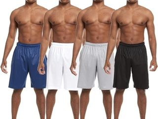 Zupo 4 Pack  Mens Active Athletic Workout Gym Shorts with Pockets Retail   27 99