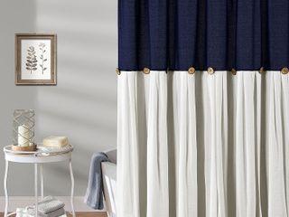 lush Decor linen Button Shower Curtain   Retail 83 98