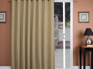 Tacoma Double Blackout Grommet Patio Curtain Panel   106in w x 84in l   Retail 111 49