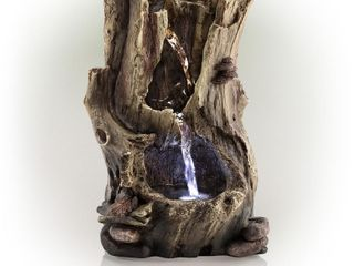 Alpine Corporation Rainforest Tabletop Fountain with lED lights   Retail   105 07