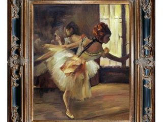la Pastiche Repetition of the Dance by Edgar Degas w  Black and Gold Excalibur Frame Oil Painting  35 5  x 31 5  Retail 343 99
