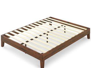 Priage by Zinus Deluxe Antique Espresso Solid Wood Platform Bed   Retail   305 99