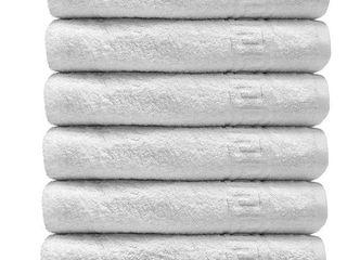 Solid White 6 Piece 100  Cotton Towel Set   Retail   37 39