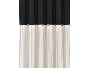 lush Decor linen Button Shower Curtain   Retail   44 54