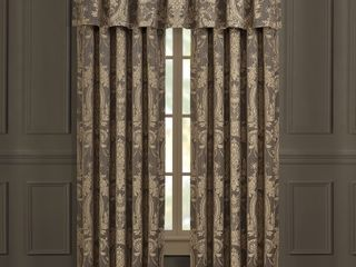 Five Queens Court Neapolitan Drapery Panels  Set of 2  PANElS ONlY NO VAlANCE  Retail   119 99