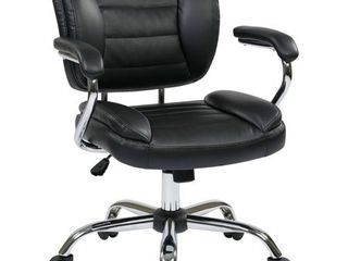 Task Chair Faux leather   Retail 131 49