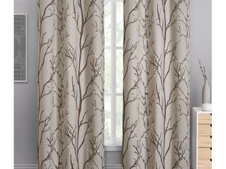 Keyes Blackout Single Curtain Panel   Retail   18 99