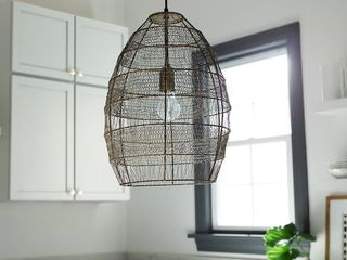 The Curated Nomad Cordilleras Oversized Woven Cage 1 light Pendant   Retail   109 49