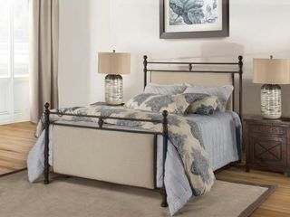 Hillsdale Furniture Ashley Queen Metal  Upholstered Headboard and Footboard   Retail 571 99