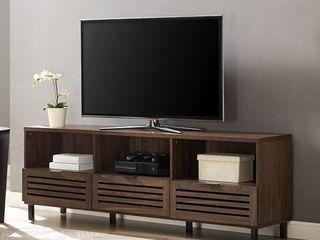 Manor Park Jackson Modern Slatted 3 Drawer TV Stand   Retail   300 20