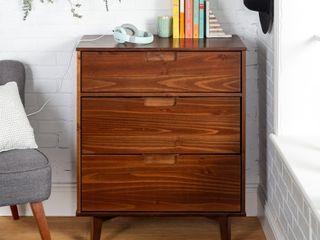 Mid Century   Solid Pine Three Drawer Storage Chest   Retail 193 00