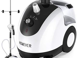 Homever Clothes Steamer  Steamer for Clothes with Upgraded Horizontal or Vertical Ironing  Garment Steamer 25s Fast Heating and 2 6l large Tank for 90min Continuous Ironing