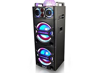 Portable Bluetooth PA Speaker System   2000W Active powered Outdoor Bluetooth Speaker Portable PA System w  Microphone In  Party lights  USB SD Card Reader  AUX RCA FM Radio  Wheels   Pyle PSUFM1043BT Retail  210