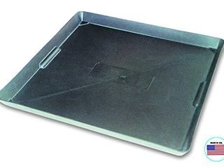 WirthCo 40092 Funnel King Drip Tray   Black Plastic 22 x 22 x 1 5 Inches   Perfect for Catching Spills or leaks from Mini Fridges  Air Conditioners  Automotive  and Machinery