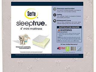 Serta SleepTrue 4 Inch Mini Crib Mattress a Waterproof a GREENGUARD Gold Certified a 10 Year Warranty a Made in The USA