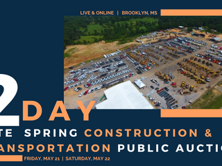Late Spring 2 Day Construction & Transportation Public Auction