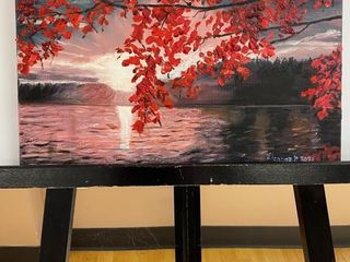 The Red Maple  painting by E Pauling