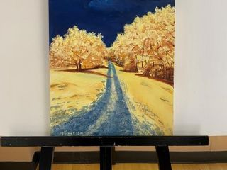Yellow Trees   Blue Skies  by E Pauling