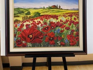 Tuscany   Poppies  print by E Pauling