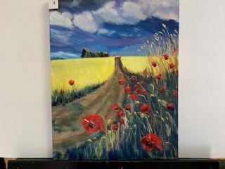 Fields of Poppies   Wheat  by E Pauling