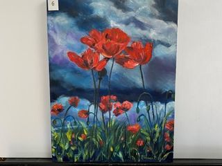 Poppies in the Wind  painting by E Pauling