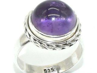 400 Silver Amethyst 5 5ct  Ring