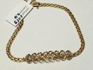 5640 14K Diamond 0 16Ct I2 I3 G H  Bracelet