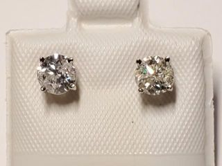 3220 14K Diamond F G I2 I3 0 8ct  Earrings