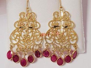 5135 18K Burma Ruby 2 4ct  Earrings