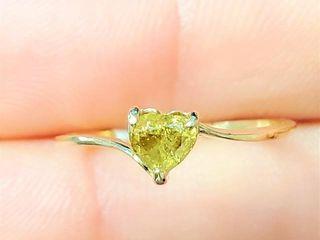 1800 10K Yellow Diamond Ring