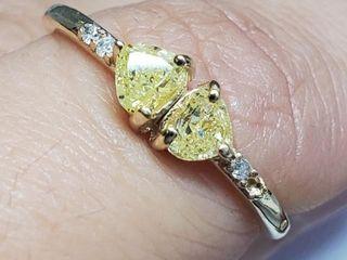 2200 10K Yellow Diamond Diamond 0 3ct  Ring
