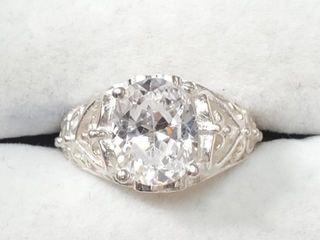 300 Silver CZ Ring