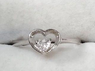 160 Silver CZ Ring