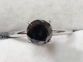 2285 10K Black Diamond 1 3Ct I2  Ring